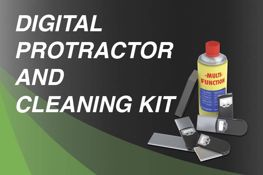 Digital protractor and cleaning kit